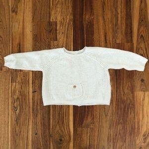 Zara Mini Button Back Pocket Sweater Size 3-6M